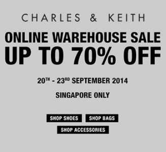 Charles & Keith Secretly Launches Online Warehouse Sale