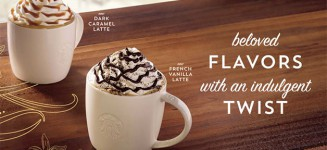 Starbucks Introduces New French Vanilla and Dark Caramel Latte