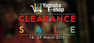 Yamaha takes their clearance sale online, happening now till end March