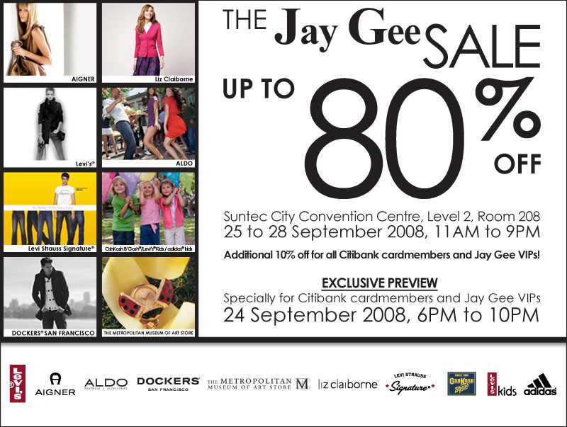 Jay Gee Sale at Suntec